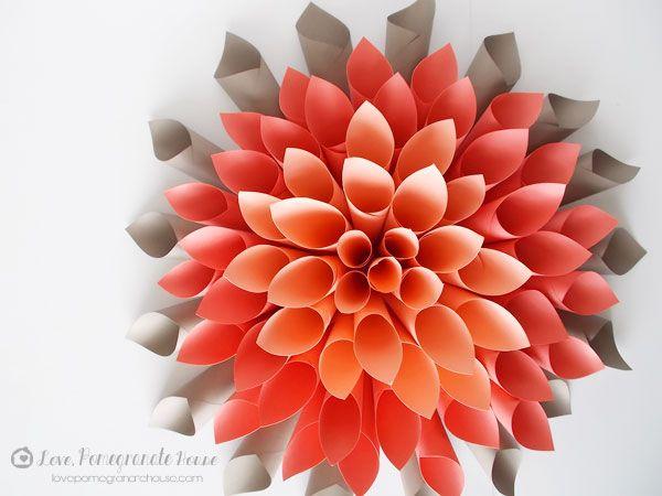 Как сделать цветочки с цветной бумаги