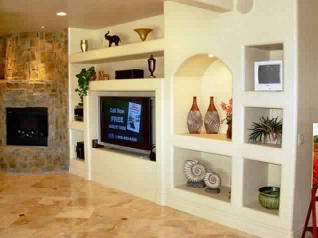 14 Breathtaking gypsum board and niches for TV wall unit | Mr Mrs ...